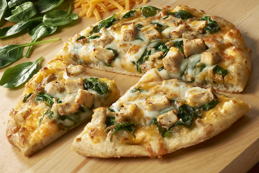 Cheese and Spinach Pan Pizza