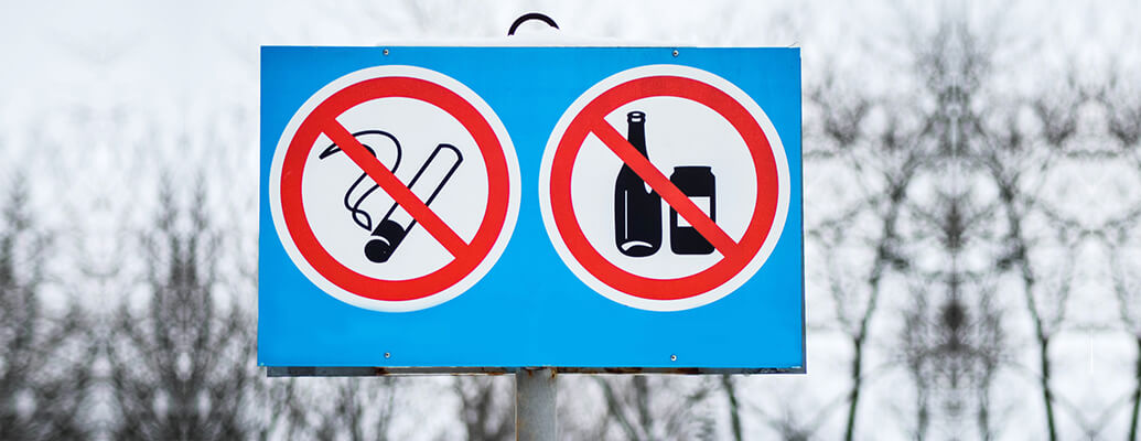 Quit smoking and alcohol consumption
